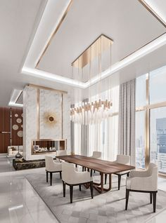 room design luxury Jaw-Dropping Dining Room Luxury Ideas You Have to Steal wohnzimmer licht Modern Dining Room Tables, Elegant Dining Room, Luxury Dining Room, Dining Room Sets, Luxury Rooms, House Ceiling Design, Ceiling Design Living Room, Dining Room Design, Modern Ceiling Design
