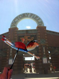 Here is Barnaby catching a ball game at Victory Field John Boyne, Hot Air Balloon, Victorious, Balloons, Fair Grounds, Game, Travel, Voyage, Globes