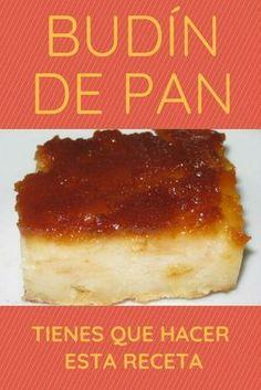 Budín de pan Boricua Recipes, Mexican Food Recipes, Sweet Recipes, Cake Recipes, Dessert Recipes, Pudding Recipes, Puerto Rican Dessert Recipe, Guatemalan Desserts, Cuban Bread