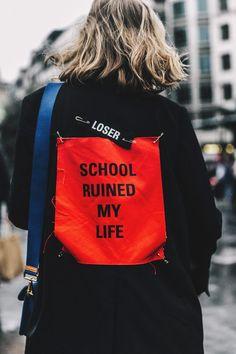 """Street Style Alta Costura París, julio de 2016 © Diego Anciano @ Collage Vintage - """"school ruined my life"""""""