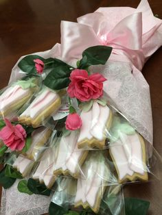 Rose cookie bouquet