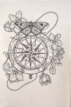 Compass Illustration - Copyright: Isabella Caitlin Avery                                                                                                                                                                                 Mais