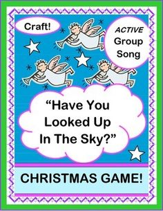 GROUP GAME, SONG, and CRAFT about that FIRST CHRISTMAS! Your kids can make Crafts to use during the Song. Templates for ANGELS, SHEPHERDS on the HILLS, BETHLEHAM, and BABY JESUS are included. SONG DIRECTIONS for a fun 7-note Song are provided-- no music skills needed! (11 pages) CELEBRATE with Joyful Noises Express TpT! $