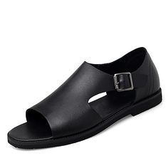 Category:Sandals; Upper Materials:Nappa Leather; Season:Summer,Spring; Gender:Men's; Style:Beach,Casual; Outsole Materials:Rubber; Occasion:Outdoor,Daily; Closure Type:Buckle; Function:Non-slipping,Breathable,Wear Proof; Pattern:Solid Colored; Shipping Weight:0.7; Listing Date:05/20/2020; Foot Length:; Size chart date source:Provided by Supplier. Buy Mens Shoes, Mens Shoes Online, Strand Design, Leather Sandals, Men's Sandals, Half Shoes, Comfortable Mens Shoes, Cuir Nappa, Shoe Boots