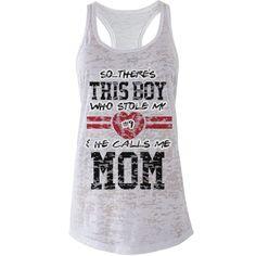 The Baseball Mom's Heart   Are you a baseball mom? Customize a cute tee to wear…
