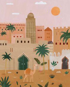 Art Mignon, Art Et Illustration, Art Design, Islamic Art, Cute Art, Art Inspo, Art Projects, Art Drawings, Canvas Art