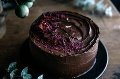 Chocolate & Beetroot Layer Cake with Cacao Fudge Frosting   Gather & Feast