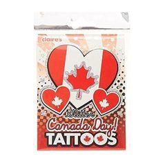 Claire's Accessories Canada Day Glitter Temporary Tattoos