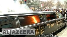 Violent anti-Trump protesters set ablaze a limo during President Trump's inauguration last Friday — but what they probably did not know is that the limo President Trump Inauguration, New President, Washington Dc, Dramatic Photos, Limo, Johnny Cash, Muhammad, Muslim