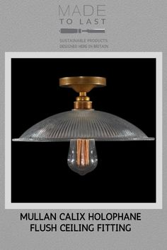 Manufactured in Ireland this Calix Holophane Flush Ceiling Fitting diffuses light to give a warm glow. This Calix Holophane Fitting would look fantastic in a wide range of settings. Industrial Style, Ceiling Lights, Modern, Ceiling, Holophane, Lights, Light, Diffused Light, Fittings