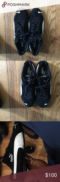 Black puma shoes Never worn but has no tags. 100% authentic and very comfortable. I'm willing to negotiate with these just let me know what your thinking. Puma Shoes Athletic Shoes