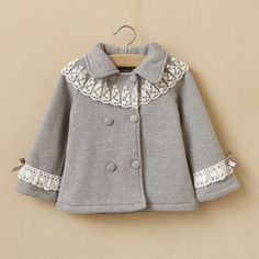 toddler girls fall jacket color gray by babygirldress Baby Outfits, Kids Outfits, Kids Winter Fashion, Kids Fashion, Girls Fall Jacket, Baby Hut, Toddler Girl Fall, Kids Coats, School Fashion