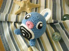 Polliwag - Pokemon Character - Free Amigurumi Pattern (Scroll Down) here: http://sunmoonamigurumi.blogspot.de/2013/07/quapsel-polliwag.html
