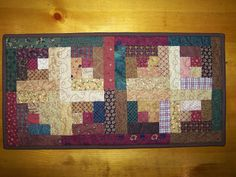 Busy Hands Quilts: Log Cabin Quilt, Table Runner, Wall Hanging. Pin Now and View Later!