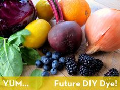 How to make natural dyes from common food items! #DIY #ecofriendly