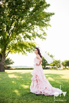 Wedding Summer Paradise Cove Texas DFW pink dress navy outside first look bride Sarah Whittaker Photo La Vie http://www.photolavie.com