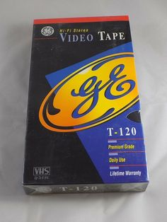 GE Hi-fi Video Tape Blank Premium Grade Daily Use VHS up to for sale online Super Pictures, Vcr Player, Vhs Movie, Cassette Recorder, Electronic Media, Video Home, Vhs Tapes, Consumer Electronics, Seal