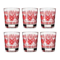 festive cups from ikea Jolly Holiday, Holiday Time, Christmas Time, Holiday Ideas, Christmas Decor, Ikea Xmas, Table Ikea, Christmas Glasses, Christmas Decorations
