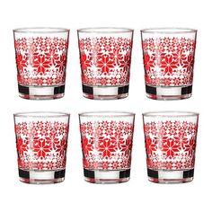 GODIS MIX  Glass, patterned, red