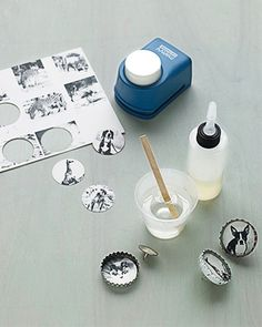 Bottle cap magnets! - Click image to find more DIY & Crafts Pinterest pins