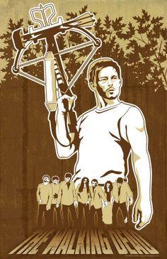 The Walking Dead - Daryl Dixon by Marci Brinker, via Behance