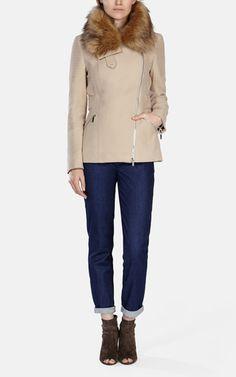 Karen Millen   Posh Moleskin Coat   $351