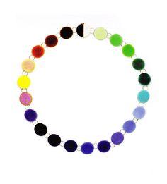 Necklace - Philip Sajet, 2012. Note the bicolour clasp disc.