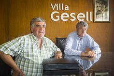 Daniel Flores, Presidente de CEVIGE, junto a Gustavo Barrera, Intendente de Villa Gesell. IMPORTANTE ACUERDO