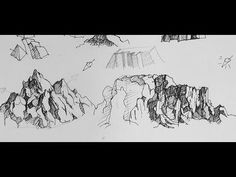 Pen & Ink Drawing Tutorials | How to to draw mountains. B-excellent info on manipulating basic shapes to draw complex patterns