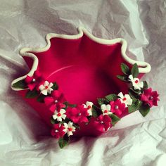Lamasa decorative bowl Polymer Clay Bracelet, Cute Polymer Clay, Cute Clay, Polymer Clay Flowers, Diy Clay, Diy Crafts For Home Decor, Diy Crafts For Gifts, Hobbies And Crafts, Arts And Crafts