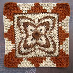 Crochet Square Patterns, Crochet Blocks, Crochet Stitches Patterns, Crochet Squares, Crochet Granny, Filet Crochet, Crochet Motif, Quilt Patterns, Knit Crochet