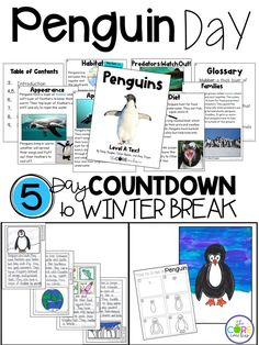 Reading, Writing, Math and many other penguin activities to help count down the days until winter break. 5 non-holiday topics that will be sure to engage your antsy students during the week before their break.
