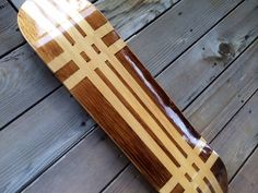 8.0 Stained Skateboard Deck or Complete by YoungFreeDesigns