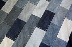 Modern Rustic Baby Quilt From Recycled Denim Couture