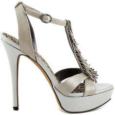 Grey High heel Sandal