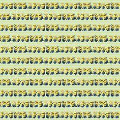 Tiny Minion Chevron Yellow fabric by missymini on Spoonflower - custom fabric