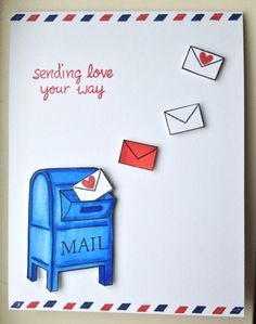 Sending Love Your Way - Scrapbook.com - Sometimes all you need are stamps and markers to create a sweet handmade card.