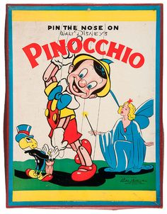 """PIN THE NOSE ON PINOCCHIO"""" GAME"""