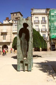 "LUGO - Francisco Otero Besteiro - ""Au poëte Pimentel"" | Flickr - Photo Sharing! Sculptures, Book, Spain"
