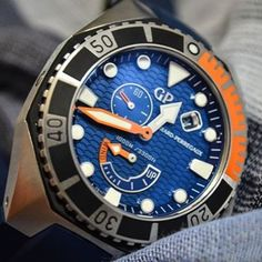 Sea Hawk in cobalt blue and coral orange. Shoot from @monochromewatch #diver #diving #sea #blue #orange #watches #instadaily #style #watchoftheday