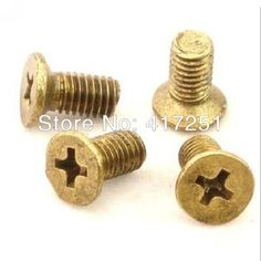 100 pieces Metric Thread M5*35mm Brass Countersunk Head Phillips Screws Fasteners #Affiliate
