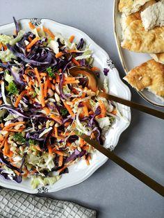 De beste coleslaw Coleslaw, Japchae, Paella, Cabbage, Healthy Eating, Lunch, Homemade, Chicken, Vegetables