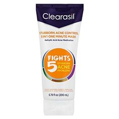 Clearasil Stubborn Acne Control One Minute Mask, 6.78 oz. (Pack of 4) * Read more at the image link. (This is an affiliate link)