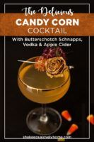 The Yummiest Candy Corn Cocktail - She Keeps a Lovely Home Halloween Cocktails, Winter Cocktails, Fall Drinks, Holiday Drinks, Cocktail Drinks, Cocktail Recipes, Thanksgiving Cocktails, Liquor Drinks, Cocktail Ideas