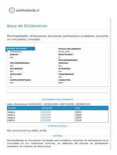 Estoy leyendo Dictamen N° 5.541. Fecha 03-03-2020. Contraloría General de la República. Municipalidades se encuentran facultadas para establecer instancias de participación de la comunidad en sus respectivas comunas, en aplicación del principio de participación ciudadana, en materias de interés local. en Scribd Chile, Il Piccolo Principe, Calendar Date, Community, Chili, Chilis