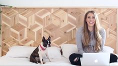 The world is your geometric oyster, says DIY darling Mandi Gubler. And she's here to prove it. In this episode Mandi takes you step-by-step through the process of building a 3D tumbling block headboard from natural cedar. Make a modern statement piece for your bedroom using this as your template. Tumbling Block Headboard. The Design Network.