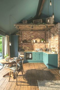 The Sanctuary – Hampshire, UK - Best My Living Room deas Design Case, Küchen Design, Interior Design Kitchen, Interior Decorating, Blue Kitchen Designs, Dark Ceiling, Sheltered Housing, The Design Files, Rustic Kitchen