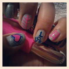 I in love so I inspired by valantines day coming soon simple nail art so easy and girly hope u love my nail art!