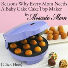 Baby cakes cake pop maker -- K got one for Christmas and it is AWESOME.  Will try these recipes for sure.