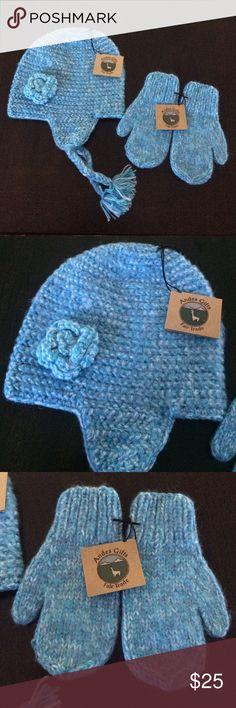 Alpaca Andes Hat and Mitten Set Super soft and fair trade! NWT! 40% alpaca and 60% acrylic. One size. Offers welcome! Andes Gifts Accessories Mittens